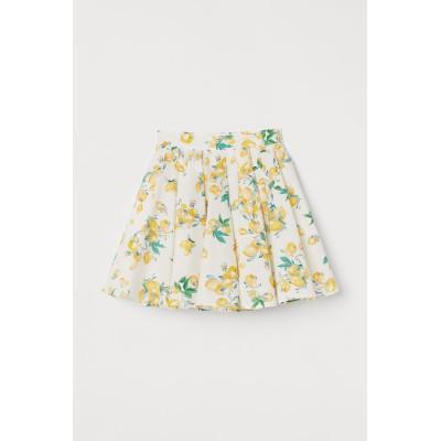 H&M - コットンベルスカート - ホワイト
