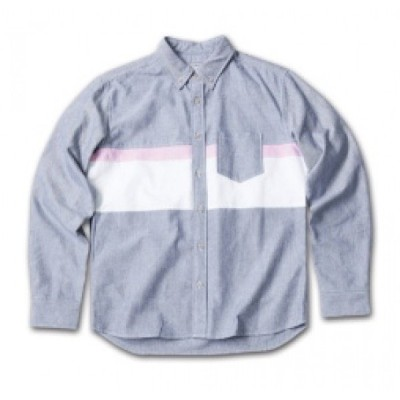 MAGICNUMBER Panel Line Oxford BD Shirts L/S