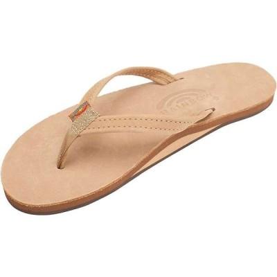 レインボー レディース サンダル シューズ Rainbow Women's Narrow Strap Single Layer Leather Sandal