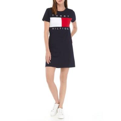 トミー ヒルフィガー レディース ワンピース トップス Short Sleeve Flag Tee Dress