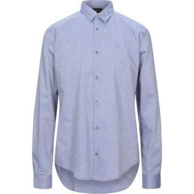 アルマーニ EMPORIO ARMANI メンズ シャツ トップス Striped Shirt Blue