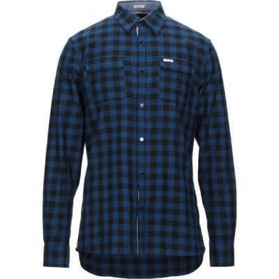 ゲス GUESS メンズ シャツ トップス Checked Shirt Blue