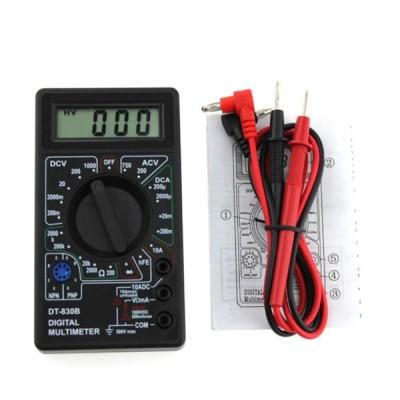 デジタルマルチメータ DT-830B LCD電圧計 電流計 導通チェック 周波数 ダイオード コンデンサー測定 抵抗計電圧AC DCテスター