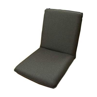 コンパクトで小さな国産座椅子 「ピッコロ2」 ギア式14段階リクライニングチェアー グレー 【日本製】