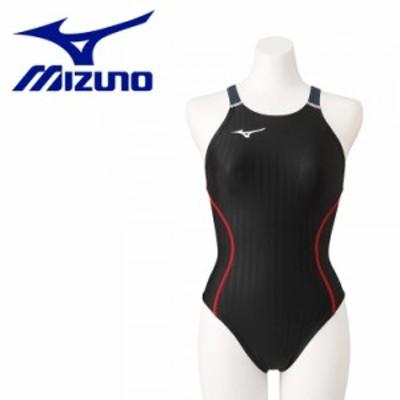 メール便送料無料 ミズノ スイム 競泳用ミディアムカット(レースオープンバック) レディース N2MA122490