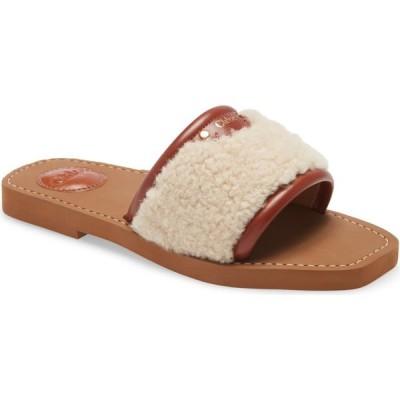 クロエ CHLOE レディース サンダル・ミュール シアリング スライドサンダル シューズ・靴 Genuine Shearling Slide Sandal Mild Beige