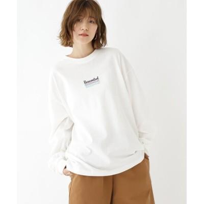 BASESTATION / 抗菌防臭 ロゴグラフィックバリエーション ロンT WOMEN トップス > Tシャツ/カットソー