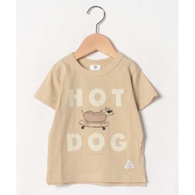 【シ・シュ・ノン】 ホットドッグTシャツ キッズ ベージュ 110cm Si・Shu・Non