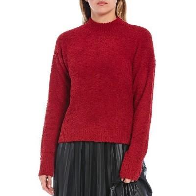 サンクチュアリー レディース ニット&セーター アウター Teddy Mock Neck Long Sleeve Sweater Tartan Red