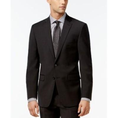 カルバンクライン メンズ ジャケット・ブルゾン アウター Infinite Stretch Solid Slim-Fit Jacket Charcoal