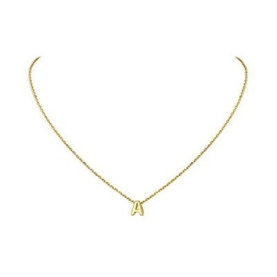 Initial Necklaces Gold, A-Z Necklace Pendant,925 Sterling Silver Alphabet P