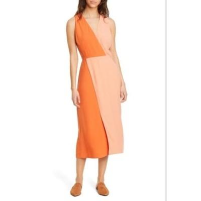 エキプモン レディース ワンピース トップス Galane Colorblock Crepe Dress CNYN SUN OR RST