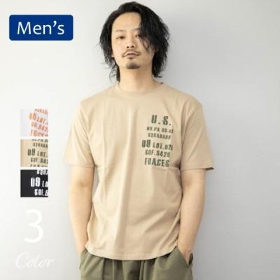 [期間限定クーポンセール]◆20%OFF◆Tシャツ メンズ 半袖 ロゴプリント 1点までメール便可 薄手 コットン100% 白 黒 ベージュ 半袖Tシャツ プリントTシャツ トッ