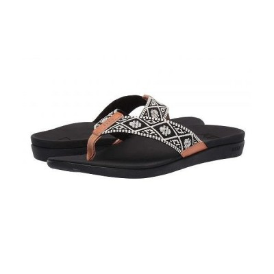 Reef リーフ レディース 女性用 シューズ 靴 サンダル Ortho-Woven - Black/White