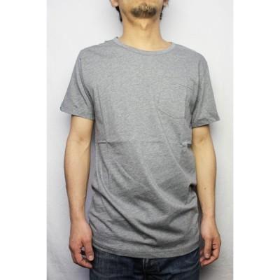 SPENGLISH (スペングリッシュ) / ピマコットン ポケット Tシャツ (ヘザーグレー) [メール便発送対応]