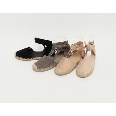 From Beginning レディース サンダル Suede race up sandal _K