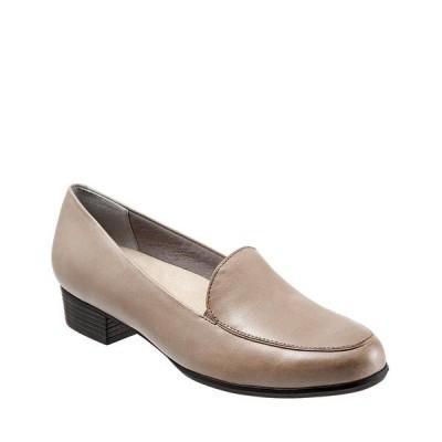 トロッターズ レディース スリッポン・ローファー シューズ Monarch Slip-On Block Heel Loafers Grey