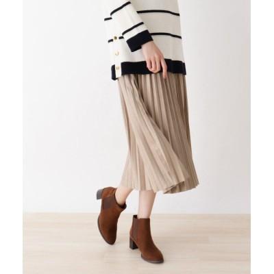SHOO・LA・RUE/Mrs.(シューラルー/ミセス) 【フリーサイズ】フェイクスエードプリーツスカート