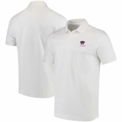 Cutter & Buck カッター アンド バック スポーツ用品  Cutter & Buck Kansas State Wildcats White Collegiate Advantage DryTec Polo