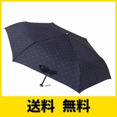 [ムーンバット] urawaza(ウラワザ) 折りたたみ傘 ドット柄 ネイビーブルー 52?【3秒で折りたためる傘】