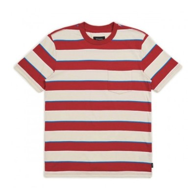 Brixton Hilt Washed Pocket T-Shirt Tan/Red S Tシャツ 送料無料