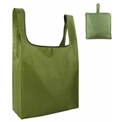 エコバッグ 折りたたみ 人気 選べる8色 エコバック コンビニ コンパクト 男性 買い物袋 (グリーン)