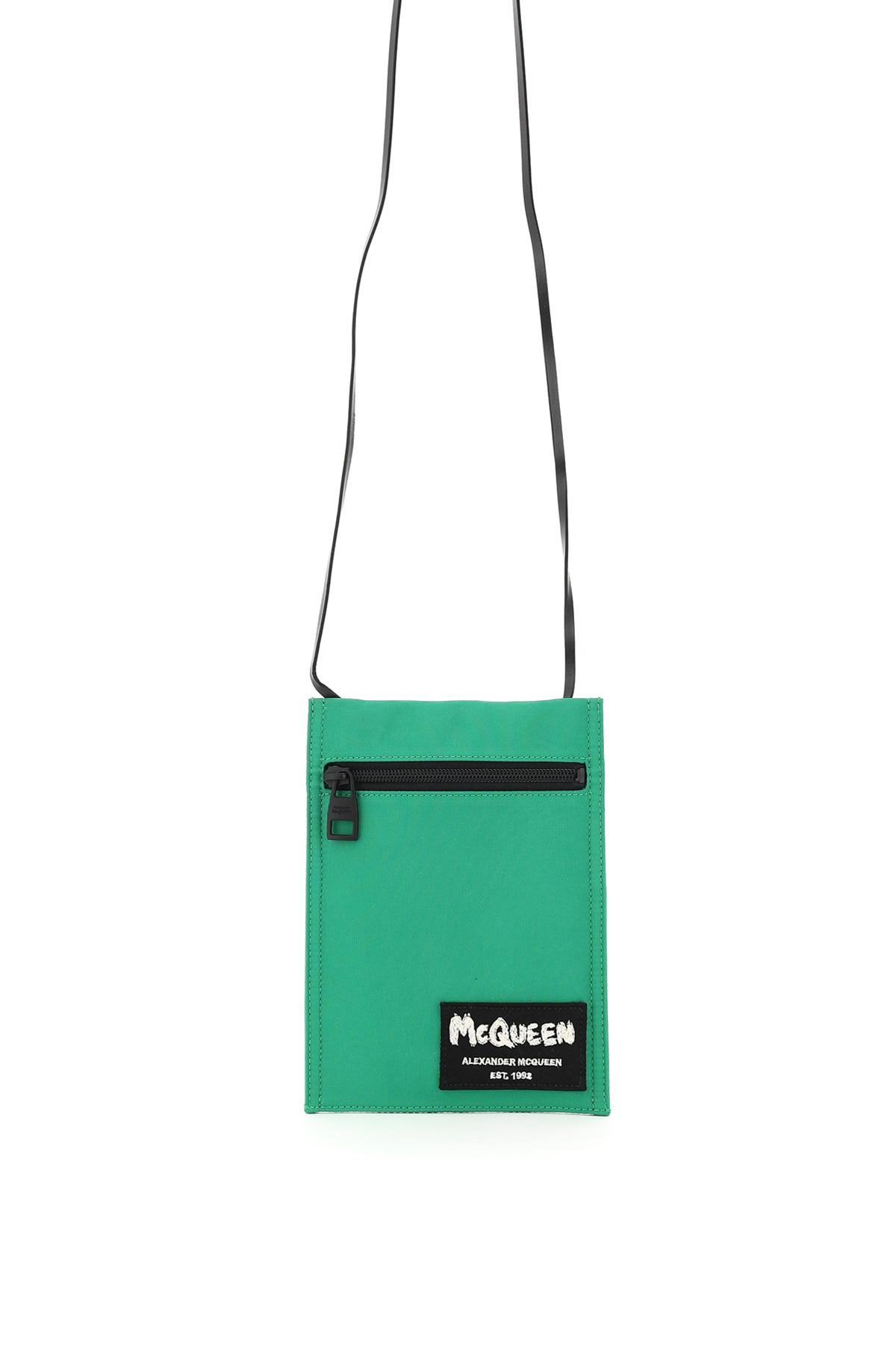 ALEXANDER MCQUEEN SHOULDER POUCH BAG OS Green Technical