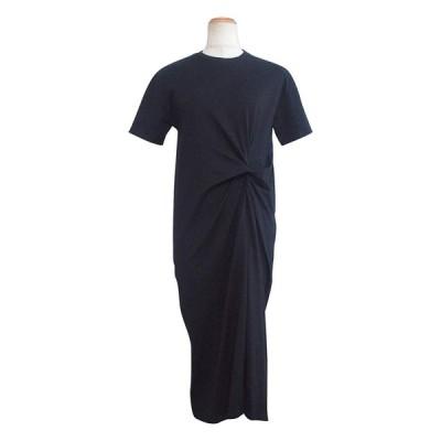 アンドジェイ フロント ツイスト Tシャツ ワンピース (4240) M カーキ