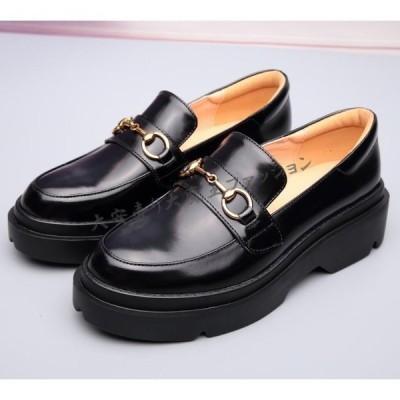 厚底ビジネスシューズ革靴レディース本革安いウォーキングビジネスシューズローファーレディースエナメル靴婦人靴