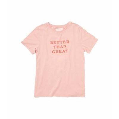 バンドー レディース シャツ トップス Better Than Great Classic Tee Pink