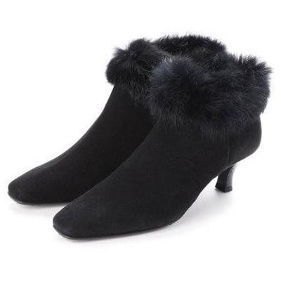 ビューフォートエレガンス BeauFort elegance 2Eショートブーツ (ブラックスエード)