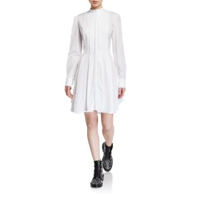 アレキサンダー・マックイーン レディース ワンピース トップス Pleated Poplin Shirtdress