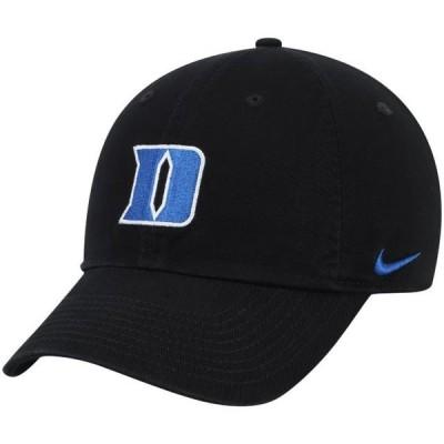 ユニセックス スポーツリーグ アメリカ大学スポーツ Duke Blue Devils Nike Heritage 86 Performance Adjustable Hat - Black - OSFA