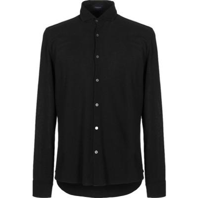 ドルモア DRUMOHR メンズ シャツ トップス solid color shirt Black