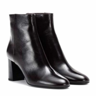 イヴ サンローラン Saint Laurent レディース ブーツ シューズ・靴 Loulou 70 leather ankle boots Dark Bordeaux