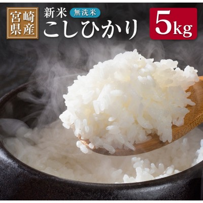 《期間・数量限定》新米・無洗米『宮崎県産こしひかり』計5kg