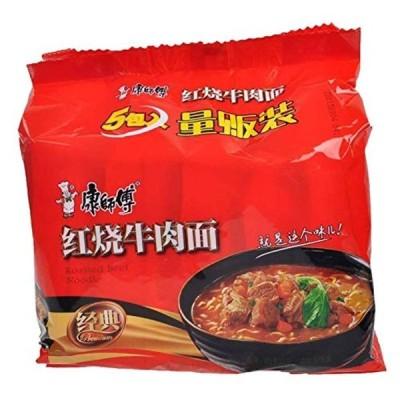 康師傅紅焼牛肉面 インスタントラーメン 即食面 (5食×2点)
