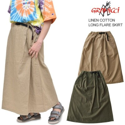 グラミチ GRAMICCI スカート レディース ウィメンズ リネンコットンロングフレアスカート LINEN COTTON LONG FLARE SKIRT GLSK-20S035 GLSK-035 正規取扱店