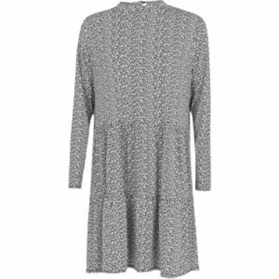 オアシス Oasis レディース ワンピース ワンピース・ドレス Curve Leaf Print Dress Black and White