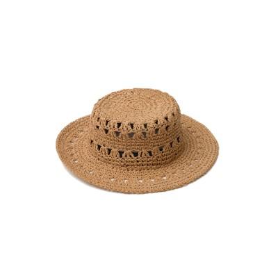 リエディ Re:EDIT 透かし編みカンカン帽 (ベージュ)