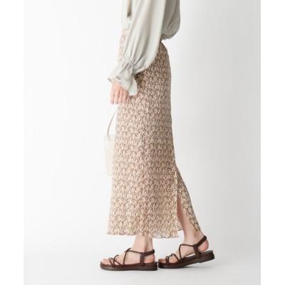 BEAUTE DE OPAQUE(ボーテ ド オペーク) フラワープリーツスカート