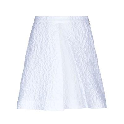 エムエスジーエム MSGM ひざ丈スカート ホワイト 38 ポリエステル 84% / ナイロン 9% / シルク 7% ひざ丈スカート