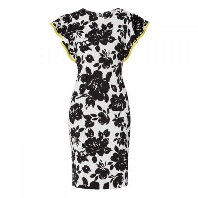 ジーナ バッコーニ Gina Bacconi レディース ワンピース ワンピース・ドレス Citana Floral Scuba Dress Black/White