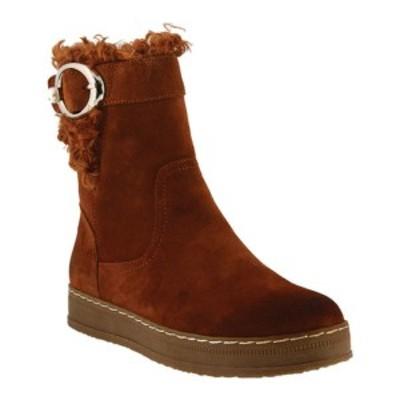 スプリングステップ レディース ブーツ&レインブーツ シューズ Lammie Ankle Boot Rust Suede