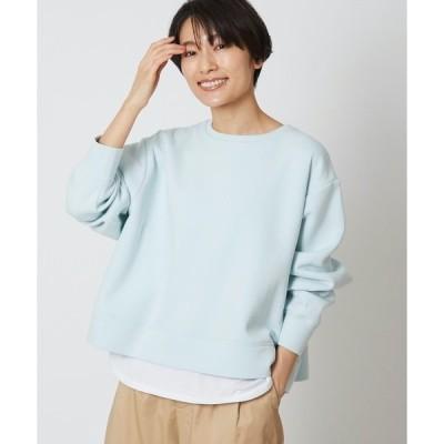 tシャツ Tシャツ ライトダンボール裾レイヤードプルオーバー