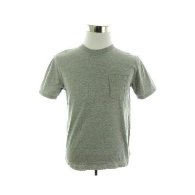 【中古】レイジブルー RAGEBLUE Tシャツ カットソー 半袖 クルーネック 薄手 コットン 無地 M グレー トップス /M1 メンズ 【ベクトル 古着】