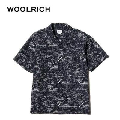 ウールリッチ 開襟 シャツ 半袖 メンズ Wool Rich WJSI0020 PRINT TENCEL/PE SI プリンテッドテンセル/ポリエステルシャツ  [210412]