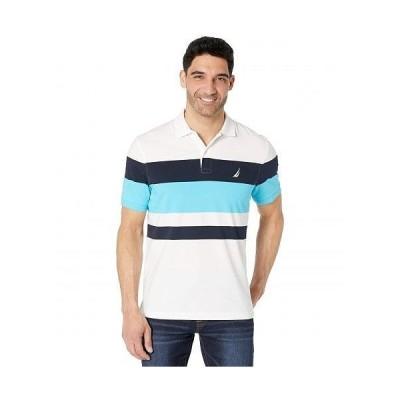 Nautica ナウチカ メンズ 男性用 ファッション アクティブシャツ Classic Fit Striped Polo - Bright White