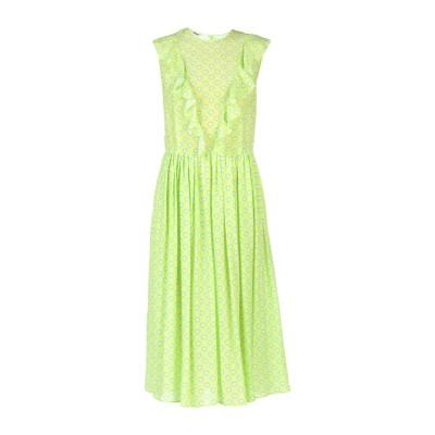 ミュウミュウ MIU MIU 7分丈ワンピース・ドレス ライトグリーン 42 100% シルク 7分丈ワンピース・ドレス