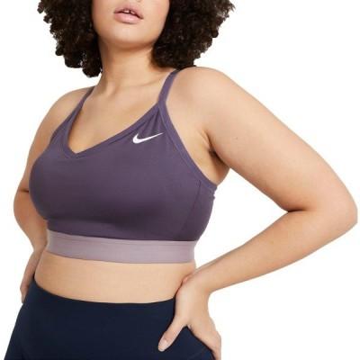 ナイキ カットソー トップス レディース Nike Women's Plus Size Solid Indy Sports Bra DarkRaisin